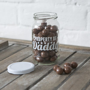 Personalised Daddy Storage Treat Jars - keepsake boxes
