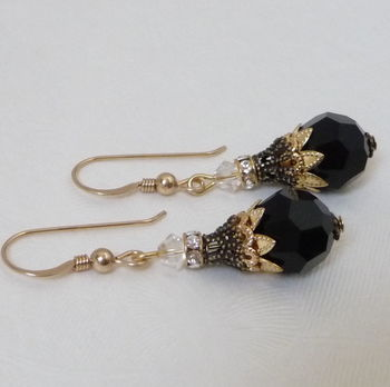 Filigree And Crystal Earrings