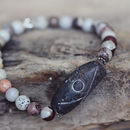Jasper And Tribal Bead Bracelet