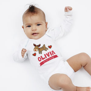 Personalised First Christmas Reindeer Vest - gifts for babies