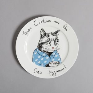 These Cookies Are The Cat's Pyjamas - tableware