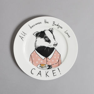 All Because The Badger Loves Cake - tableware