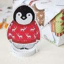 Cute Illustrated Penguin Card