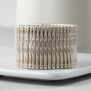 Audrey Silver Plated Cuff