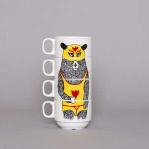 El Guapo Stacking Coffee Cups - mugs