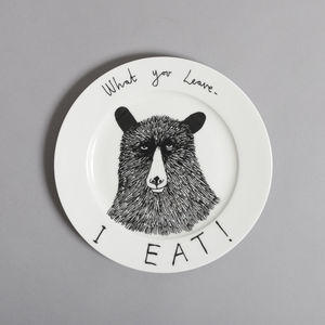 Hungry Bear Side Plate - plates