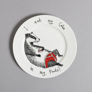'I Eat My Cake In My Pants' Side Plate - crockery & chinaware