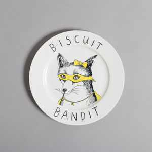 'Biscuit Bandit' Side Plate - crockery & chinaware