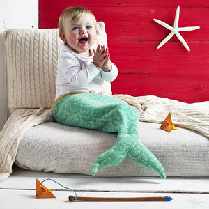 Knitted Mermaid Sleeping Bag - as seen on tv and in the press