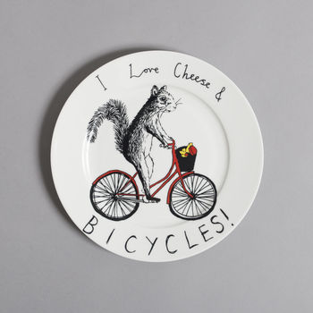 Cheese And Bicycles Side Plate