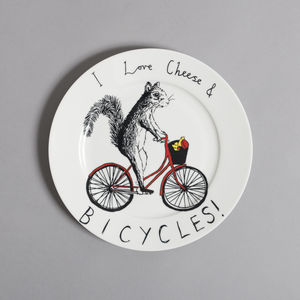 Cheese And Bicycles Side Plate - baby care