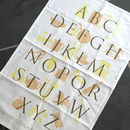 Typographic Tea Towel