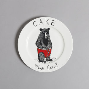 'Cake, What Cake?' Side Plate - crockery & chinaware