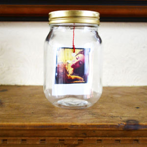 Photo And Message Mason Jar - token gifts for dad