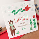 Personalised Baby's Son First Christmas Card