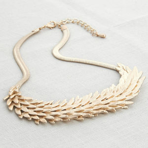 Champagne Gold Statement Necklace