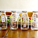 Personalised Family Photo Milk Bottles