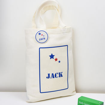 Personalised 'Children's Party Bag' And Badge