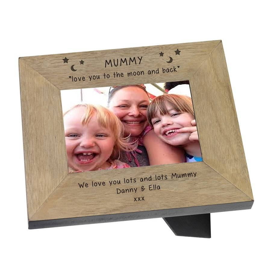 mummy love you to the moon and back frame