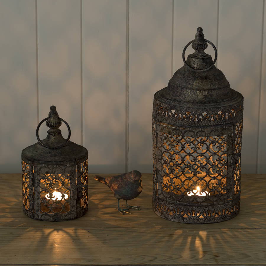 Moroccan style lattice candle lantern by the flower studio Www home decor ideas