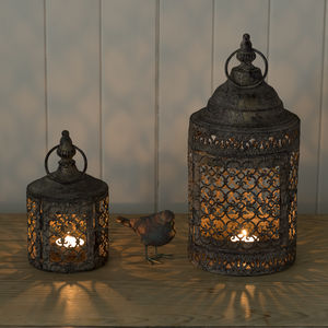 Moroccan Style Lattice Candle Lantern - outdoor decorations