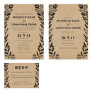 Bold Wreath Wedding Invite