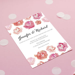 Peonies Blush Wedding Stationery - wedding stationery