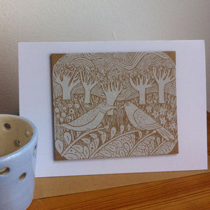 The Rich Tapestry Of Life Hand Printed Greeting Card
