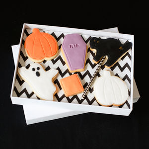 Selection Of Six Halloween Biscuits - sweet treats