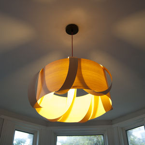 Wooden Peony Pendant Lampshade - furnishings & fittings