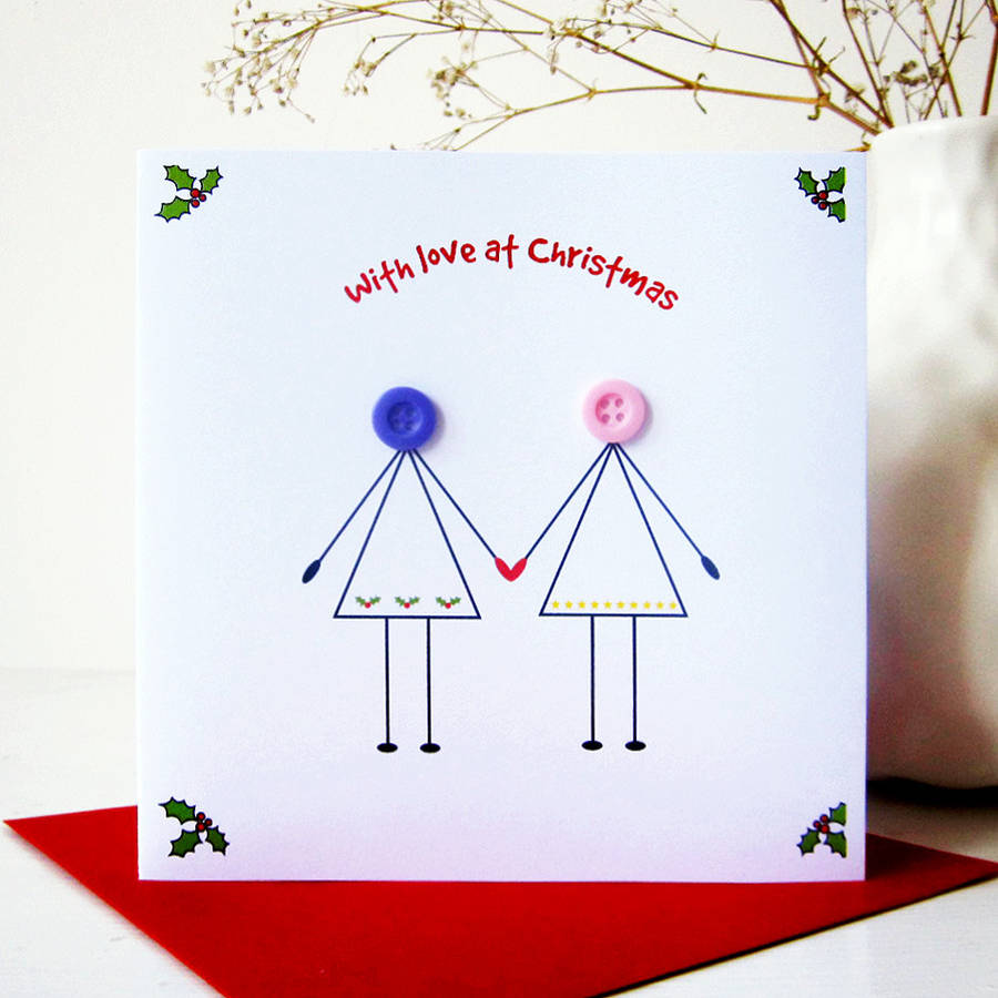 Husband and wife button christmas card by mrs l cards husband and wife button christmas card kristyandbryce Images