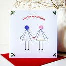 'Husband And Wife' Button Christmas Card
