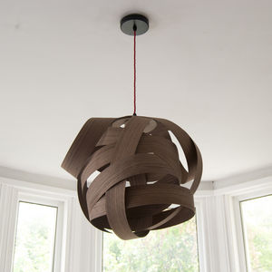 Random Wood Lampshade - bedroom