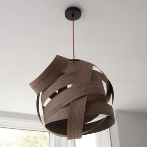 Random Wood Lampshade - furnishings & fittings
