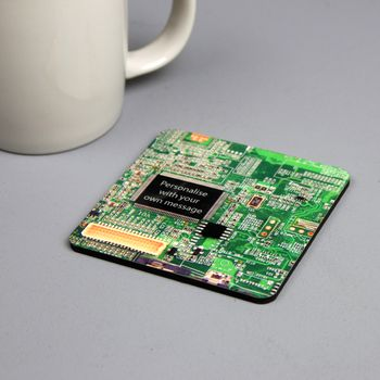 Personalised Circuit Board Coaster