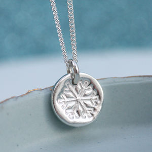 Dainty Little Silver Snowflake Necklace - chocolate & sweet treats