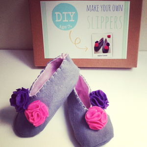 Make Your Own Slippers Sewing Craft Kit - clothing