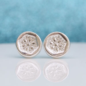 Silver Snowflake Earrings - children's accessories