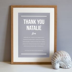Personalised 'Thank You' Poster - thank you gifts