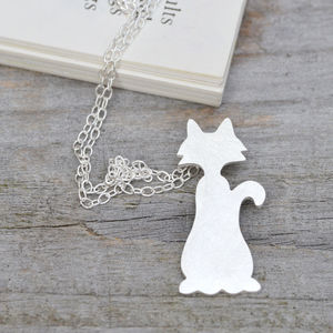Naughty Cat Necklace In Sterling Silver Personalised - necklaces