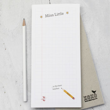 Personalised Notepad For Teacher