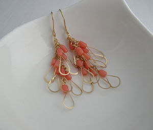 Pink Coral Little Wing Earrings