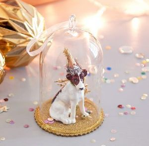 Party Dog Glass Decoration - less ordinary decorations