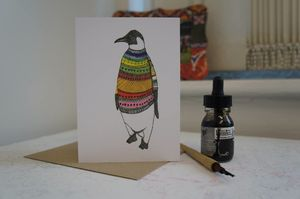 Penguin Greetings Card - shop by category