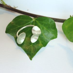 Sterling Silver Triple Petal Split Ring 'Mix And Match'