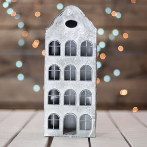 Dutch Metal House Candle Lantern