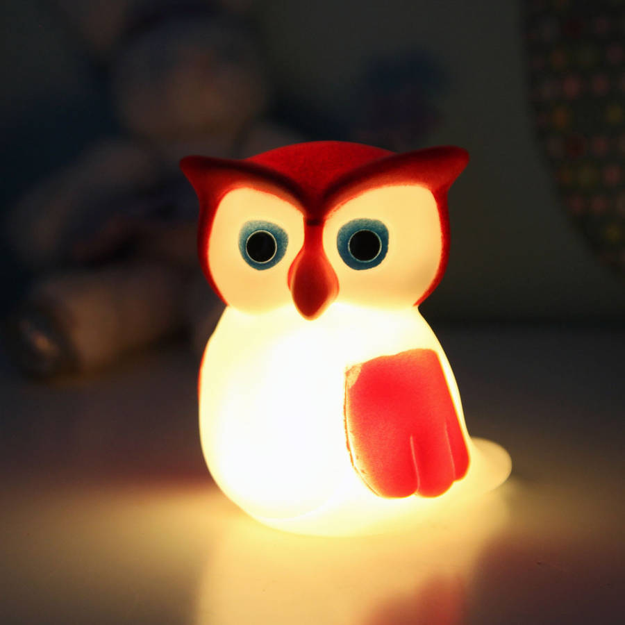 Cute Owl Night Light By Red Berry Apple