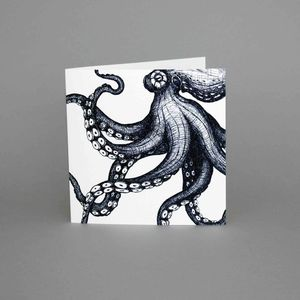 Maritime Range Octopus Greeting Card