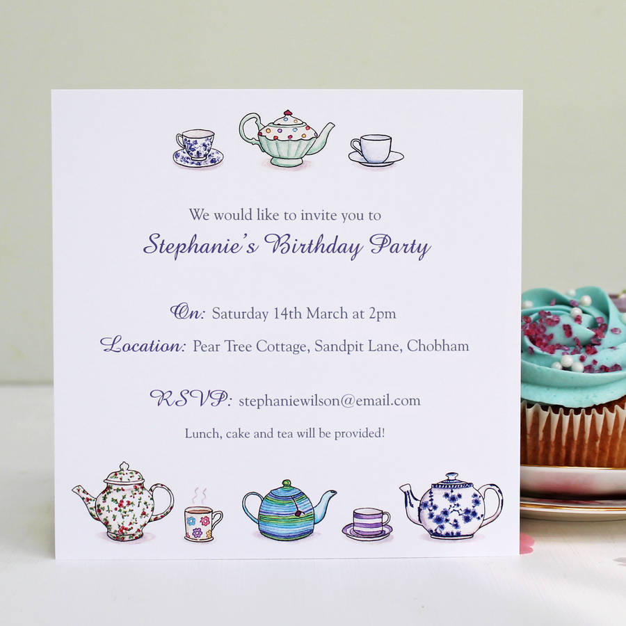 tea invitation