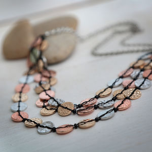 Tri Tone Coin Necklace - view all sale items